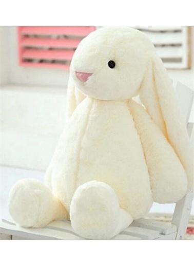Sole HEDİYELİ- Uyku Arkadaşım Uzun Kulak Bunny Peluş Tavşan 45 cm Pembe